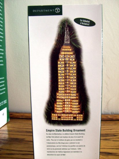 SOLD! Dept 56 Ornament EMPIRE STATE BUILDING MINT NEW in Box NYC New York Manhattan