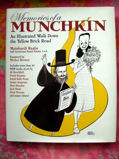 SOLD! Memories of a Munchkin: An Illustrated Walk Down the Yellow Brick Road ~ Wizard of Oz Book