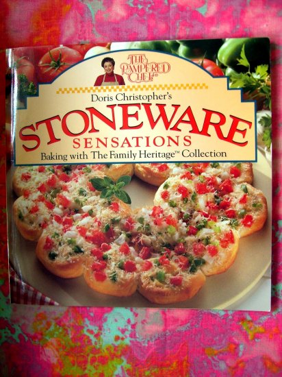 SOLD!  PAMPERED CHEF 'STONEWARE SENSATIONS' COOKBOOK
