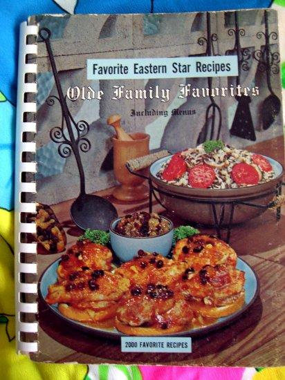 SOLD!  Vintage EASTERN STAR COOKBOOK (MASONIC---MASON) Olde Family Recipes 1965