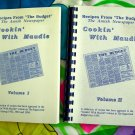 Rare Lot Cookin' With Maudie Vol 1 & Vol AMISH & MENNNONITE OHIO (OH) Newspaper Recipes Cookbook