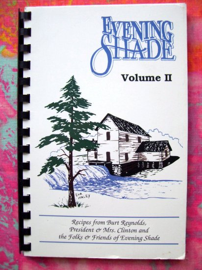 SOLD! EVENING SHADE II Cookbook Burt Reynolds TV Show 1993 Arkansas