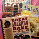 Lot 3 Baking Cookbook BAKE SALE & Great American BAKE SALE & BH&G  100's Recipes