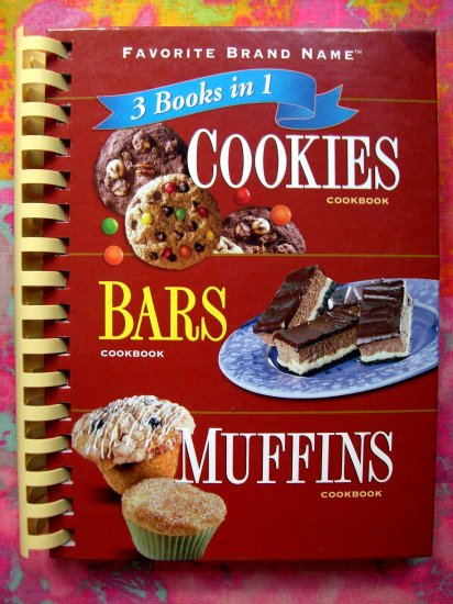SOLD! 3 Books in 1 Cookies ~Bars ~ Muffins Recipes Spiral Cookbook