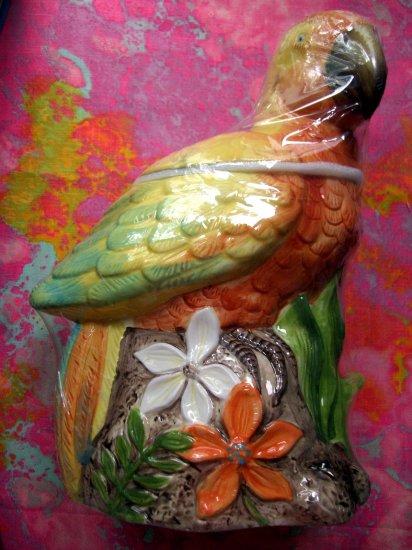 SOLD! Ceramic Parrot Cookie Jar MINT SEALED NEW!