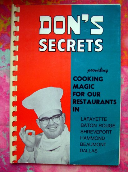 SOLD!  Don's Secrets (Seafood and Steak House) Vintage 1958 Louisiana Recipes Restaurant