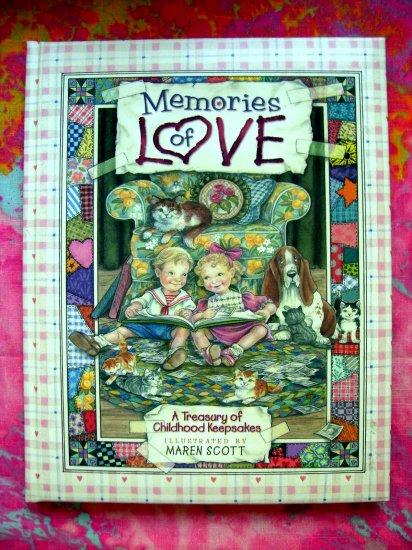 Sold! Memories of Love: A Treasury of Childhood Keepsakes HC Book Diary Journal