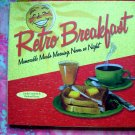 Retro Breakfast HC Cookbook FUN! by Linda Everett WONDERFUL Recipes & Fun cookbook!