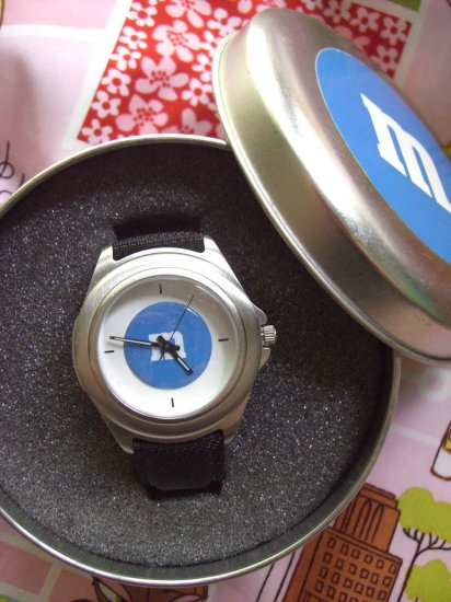 Rare M&M's M&Ms NEW BLUE WATCH Watch was for company managers!!
