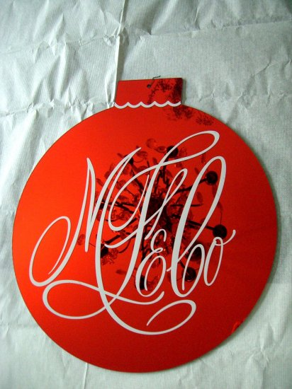 Rare Marshall Field's Large Store Ornament Red