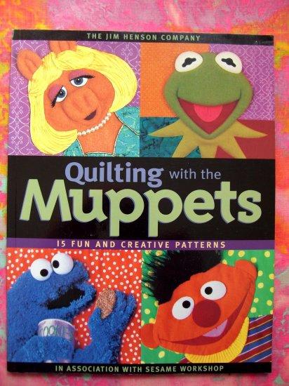 SOLD! The Muppet Show Sesame Street Quilting Patterns Kermit Quilt Pattern Book