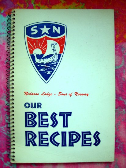 Sold! Sons of Norway Cookbook 1st Edition 1964 Norwegian Recipes Minneapolis, MN Minnesota