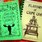 Vintage Cap Cod Kitchen Secrets Cookbook & 1987 Flavors of Cape Cod Recipes MA Mass