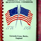 Gerrards Cross ~ American Wives Club (Expatriates) 1977 Bucks England UK Bicentennial Cookbook