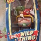 NEW M&M's WILD THING Roller Coster Dispenser Rare Variant SILVER MINT NIB