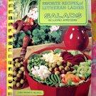 Vintage Lutheran Ladies SALADS & APPETIZERS ~  Vintage 1969 Cookbook