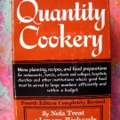 Quantity Cookery Menu Planning and Cooking for Large Numbers Cookbook HC 1966 by Lenore Richards