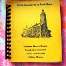 Vintage 1970 Lutheran Church Cookbook Moline Illinois IL  Swedish Recipes too!