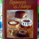 Beginnings & Endings: The Best of Beta Sigma Phi ~ Appetizers and Desserts Cookbook 1st Ed YUMMY!