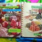 Vintage 1960's ~ Favorite Recipes Home Ec Cookbooks MEATS & VEGETABLES ~ 4000 Recipes! Budget