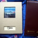 Rare NWA Northwest Airlines Blank Travel & Vacation  JOURNAL Diary Book + Card Holder