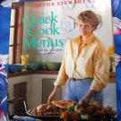 Martha Stewart's Quick Cook Menus: Fifty-two Meals You Can Make FAST!  Cookbook