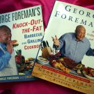 LOT George Foreman's Knock-out-the-fat Barbecue and Grilling Cookbook