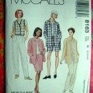 McCall's # 8163 Misses Pattern ~  Shirt Jacket Vest Shorts, Skirt. Pull-on Pants ~ Size 8 10 12