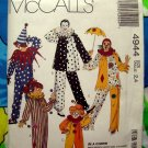 McCalls Pattern # 4944 Child / Boy or Girl Clown Harlequin Complete Size 2 4