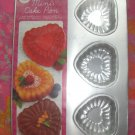 NEW Wilton MINI Cake Pan EMBOSSED HEART/ HEARTS # 2105-8255   Still in shrink wrap!