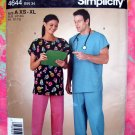 Simplicity Sewing Pattern #4644 UNCUT Size XS-XL Misses', Mens Top and Pants  Hospital Scrubs