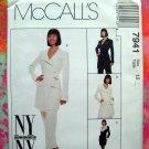 Scarce McCall's Pattern # 7941 UNCUT~  Jacket or Dress & Pants 1995 Size 12