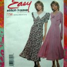 McCalls Easy Stitch 'n Save Pattern # 7756 Misses Dress 8 10 12 14