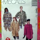 McCalls Pattern #7943 Misses COAT Size 8 10 UNCUT 1995
