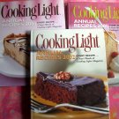 Lot Annual Cookbook ~ Cooking Light Recipe Collections 2001, 2002, & 2003 Healthy