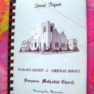 Vintage Minneapolis Minnesota MN Church Cookbook Simpson Methodist  Ads