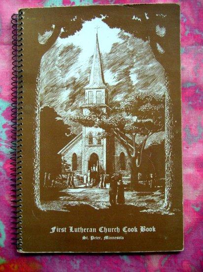 Vintage 1950's St Peter Lutheran Church Cookbook Swedish Recipes