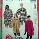 McCalls Pattern #7943 UNCUT Misses COAT Size 20 22  Circa 1995