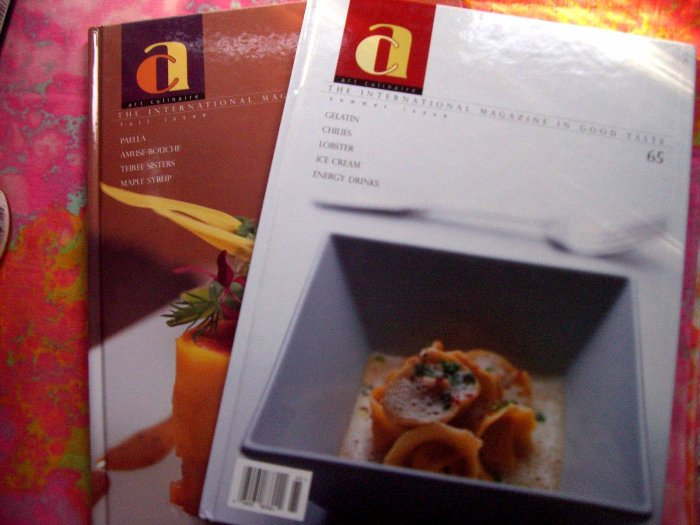 SOLD! Art Culinaire: The International Magazine Issue 65 & 70 Foodie - Chef Cookbook