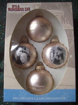 Sold Rare Mint Nib It 39 S A Wonderful Life 4 Pearl White Glass Ornament Enesco