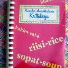 Rare Finnish Cookbook Suomalais-Amerikalainen Keittokirja 1976 Finland  Finnish English MUST READ