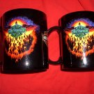 2 Matching NEW Harley Davidson Mug / MUGS Flames