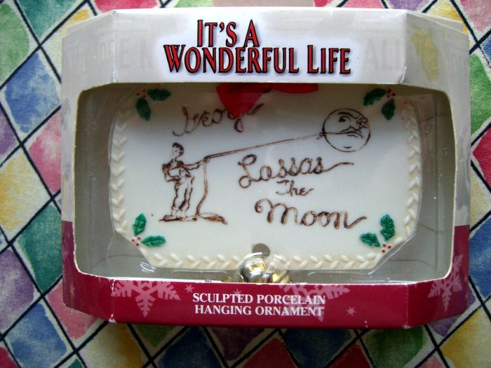 Sold It 39 S A Wonderful Life Rare Ornament George Lasso 39 S The Moon Porcelain