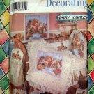 Simplicity Pattern #7674 UNCUT Daisy Kingdom Baby Crib Bumpers