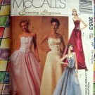 McCall's Evening Elegance Pattern #3853 UNCUT Gown Prom Dress Top Skirt Size 16 18 20 22