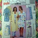 McCall's Pattern # 3446 Nightgown, Robe & Pajamas UNCUT Size XS Small & Medium
