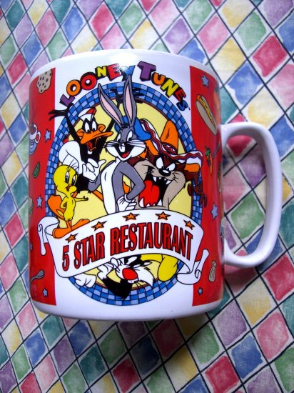 SOLD! Huge Vintage 1995 Looney Tunes Taz  Restaurant Mug / Coffee Cup