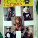 McCall's Pattern # 6105 Toddler Costume Size 3 Lion, Monkey, Elephant, Panda, Skunk