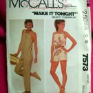 McCall's Pattern # 7573 1981 UNCUT Woman's Jumpsuit Size Small