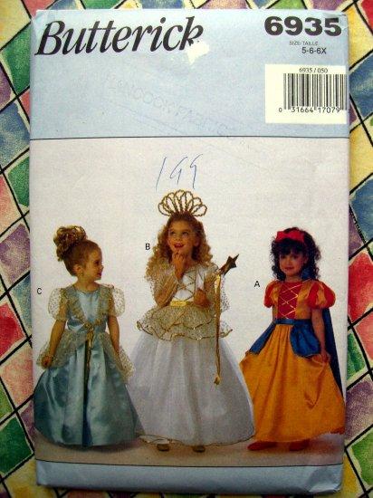 Butterick Pattern # 6935 UNCUT Costume Princess Snow White Size 5 6 6X